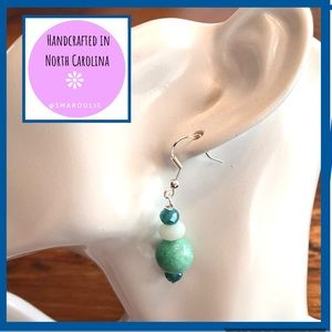 Frontrow.style Jewelry - Sterling Silver Earrings 2 Types Amazonite Sublime